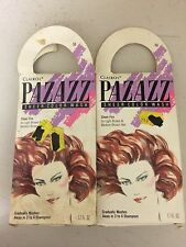 """(2) Vintage Clariol PAZAZZ SHEER """"FIRE """"COLOR WASH  Lt to Med Brown Hair"""