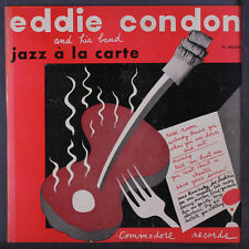 "Eddie Condon and his band Jazz A La Carte 1952 LP 10"" 33rpm vinyl record (fair)"