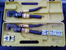 Hydraulic Crimping Tools (two Model 66150) with Dies & YQK-300 Dies & Case