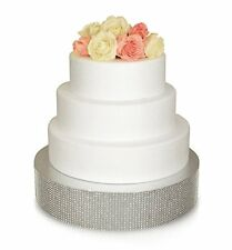 Bling, Wedding Cake Stand/ Drum 12 inch Round, Silver