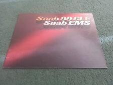1977 SAAB 99 EMS 2 DOOR / 99 GLE 4 DOOR - UK 16 Page COLOUR BROCHURE