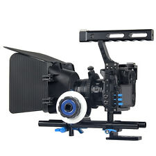 Handle DSLR Rig Stabilizer Video Camera Cage/Follow Focus/Matte Box Kit