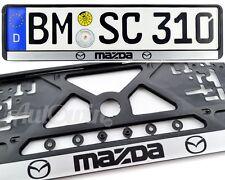 MAZDA 6 MAZDA CX-9 MAZDA 3 NEW Standart License Plates Frames Mazda Logo 1pcs.