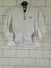 WOMENS URBAN VINTAGE RETRO THE NORTH FACE WHITE HOODED JACKET SWEATER UK 10