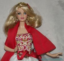 2010 HOLIDAY BARBIE Blonde Model Muse Doll MACKIE Face w/Red LINDA KYAW Gown