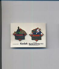 pin badge KODAK collection EURO DISNEY 1992 set two pin 020gi