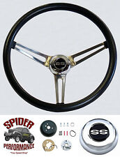 "1964-1965 Chevelle Malibu EL Camino steering wheel SS 15"" STAINLESS Grant"