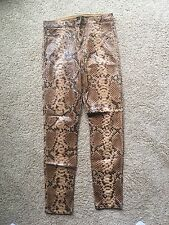 Marciano Leather-like Python Snakeskin Jeans ~ Size 29