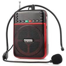 Portable FM Radio Voice Amplifier Booster 20W Loudspeaker with Microphone MP3