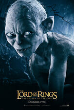 LORD OF THE RINGS Gollum SIGNED AUTOGRAPH MOVIE POSTER A2 594 x 420mm