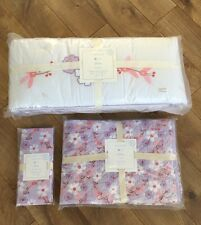 New Pottery Barn Baby Girl Jillian Bumper Quilt Sheet Crib Set