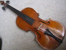 Nice old Violin violon , nice 1 part back! repaired crack at the front and side