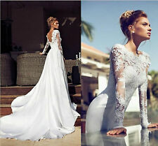 New Sexy Wedding Dress Bridal Gown Lace Custom Size2-4-6-8-10-12-14-16-18++