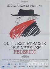 FEDERICO FELLINI / SCOLA - ORIGINAL SMALL FRENCH MOVIE POSTER - RARE DOCUMENTARY