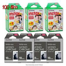 100film FUJI instax mini Instant Film 2type in 1Set B&W MONO CHROME +White Frame