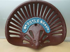 very attractive Cast Iron Wm DOYLE Co Ltd TRACTOR SEAT