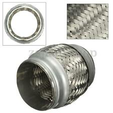 """3"""" x 4"""" Exhaust Flex Pipe Stainless Steel Double Braid Connector Adaptor Ripple"""