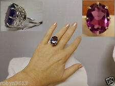 23ct purple raspberry alexandrite 925 sterling silver ring size 6.5 USA