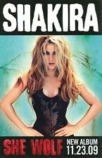 SHAKIRA poster  SHE WOLF promotional poster - 11 x 17 inches