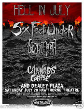 SIX FEET UNDER /DECREPIT BIRTH/CANNABIS CORPSE 2013 PORTLAND CONCERT TOUR POSTER