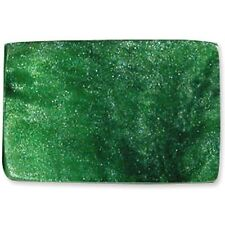 "16"" Strand  OPAQUE RESIN BEADS-RECTANGLE CUBE 23mmx15mmX15mm EMERALD SPARKLE"