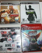 4 x PS3 Games UFC 2010 NHL 11 Call of Duty Modern Warfare 3 Ratchet Clank Future