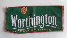 Vintage Bar Towel/ Beer Cloth. WORTHINGTON Draught Beer. Breweriana/ Prop