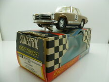Scalextric C32 Mercedes in brown with white roof, mint car looks unused and boxe