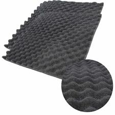 5Pcs Gray Soundproof Acoustic Waffle Foam Studio Absorbing Treatment 50x50x3cm