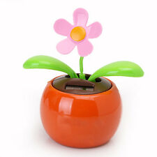 Flip Flap Solar Powered Flower Flowerpot Auto Car Dashboard Swing Dancing Toy!