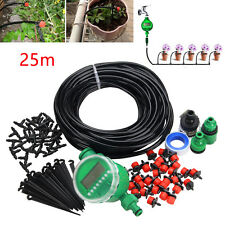 Auto Timer Plant Watering Garden Controller 25m DIY Micro Drip Irrigation System