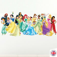 DISNEY PRINCESS Wall Sticker Bedroom Poster Girls CINDERELLA ARIEL RAPUNZEL