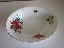 "Royal Albert Poinsettia Vegetable dish 9"" made in England"