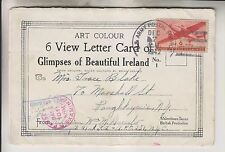1942 6 VIEW LETTER CARD - GLIMPSES OF BEAUTIFUL IRELAND - SOLDIER SENT