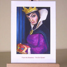 Oil painting style drawing of WDCC Snow White jealous Evil Queen villain
