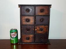 Old Primitive Antique Vintage Wood Wooden Spice Chest Cabinet Apothecary