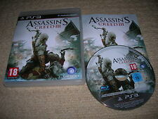 ASSASSIN`S CREED III - Rare Sony PS3 Game !!