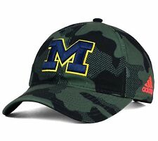 Michigan Wolverines Adidas Veterans Day Camo Slouch Adjustable Strapback Cap Hat