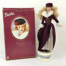 Vintage Mattel Barbie Victorian Ice Skater Doll Figurine Boxed Complete