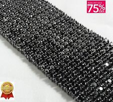 A++ BLACK GOLD FINISH MEN'S 12 ROW LAB DIAMOND BIG THICK BRACELET 8.5 INCHES NEW