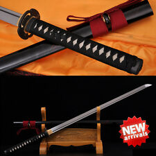 Japanese Samurai Sword 1060 Carbon Steel Sharp Full Tang Katana Straight Blade