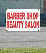 2x3 BARBER SHOP BEAUTY SALON Red & White Banner Sign NEW Discount Size & Price