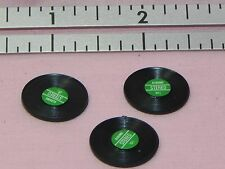 Dollhouse Miniature Record Album Set 3 Green Label Minis 1:12 Scale