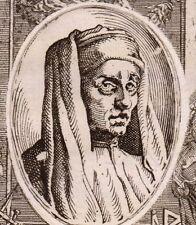 Portrait XVIIIe Giotto di Bondone Vespignano Peintre Pittore Italie Architecture
