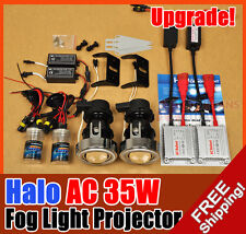"2.0"" UNIVERSAL FIT HID FOG LIGHT PROJECTORS LENS KIT + CCFL HALO ANGEL EYE 35W"