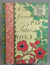 Lily McGee Paris Damask Memo Pad Paper Journal Notebook Rhinestones Floral New