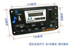 Bluetooth 4.0 APE FLAC WAV WMA MP3 decoder board smart app Android control  12V