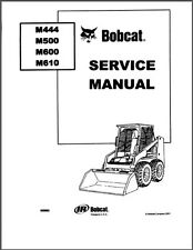 Bobcat M444 M500 M600 M610 Skid Steer Loader Service Manual on a CD
