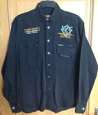 Harley Davidson West Coast Motor Clothes Scotland Mens Black Shirt Medium