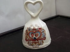 SMALL BELL WITH A HEART HANDLE FOR WEDDING OF CHARLES AND DIANA BY CORONET CHINA